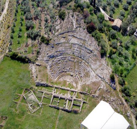 Ancient Theater of Aigeira - Aerial View