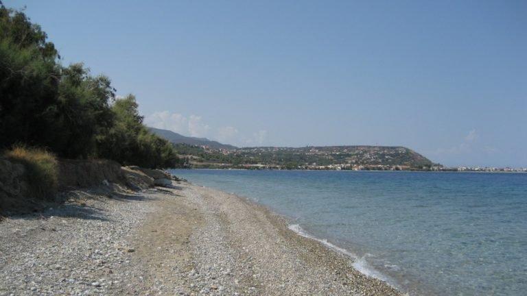 Aigeira - View towards Akrata from Krios river - Sep 2012
