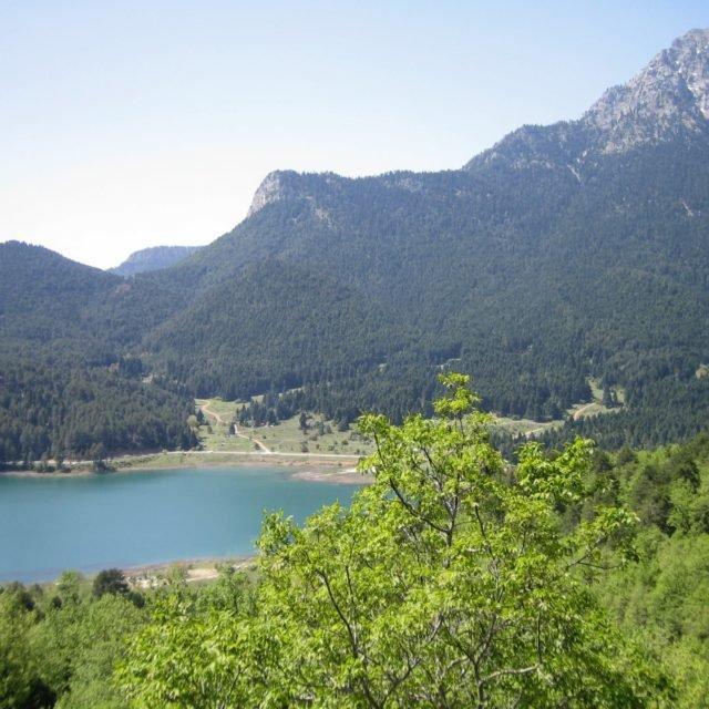 Aigeira - Lake Doxa (Feneou) in Korinthia and Mount Aroania c. 2008