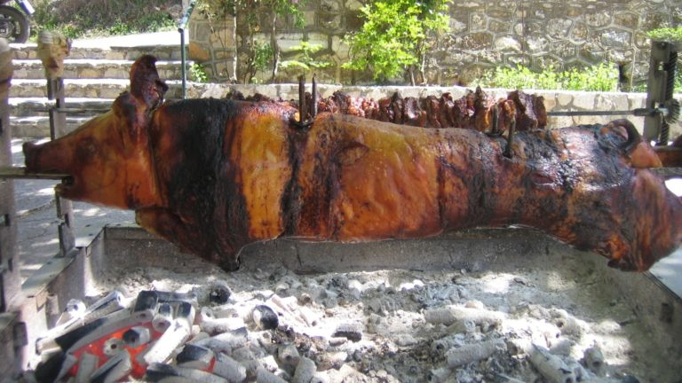 Aigeira - Traditional Pig/Boar in the Skewer