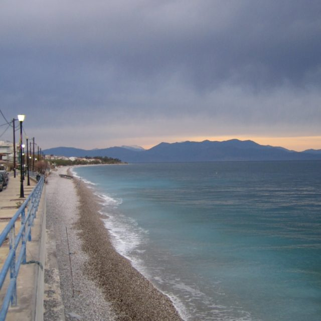 Paralia of Akrata - Blue Hour - Sea Sky Clouds - c. 2008