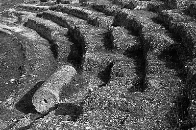 Aigeira - History - Details from the seating of the Ancient Theater of Aigeira