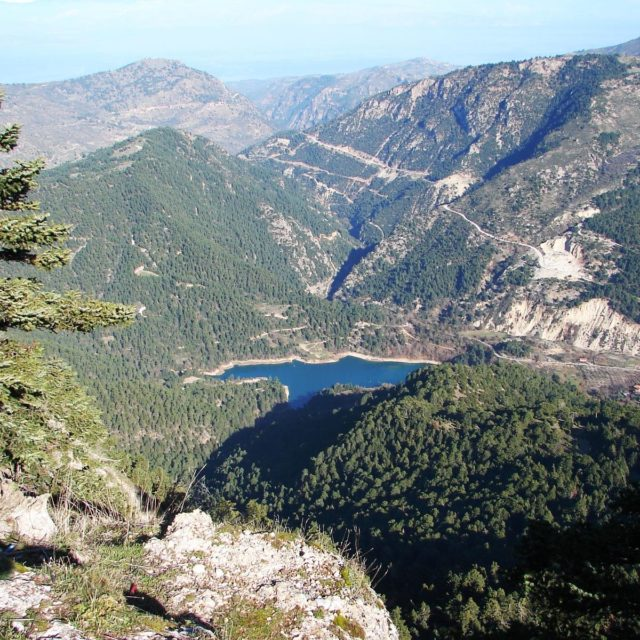 Aigeira - Activities - Hiking - Tsivlou Lake From Plateau Stolos